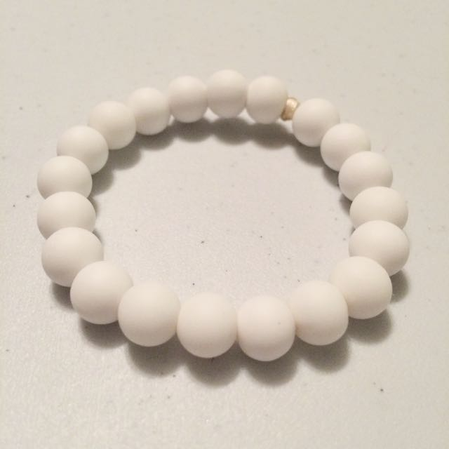 White Teething Bracelet