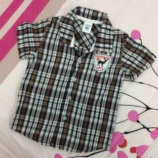 Anakku Brown Checkers Shirt 1-2Y