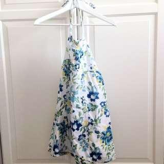Halter Floral Dress