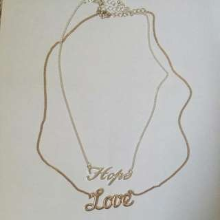 Hope & Love Layered Necklaces