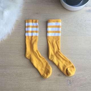 AA Striped Calf-high Socks