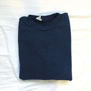Navy Plain Crewneck