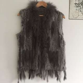 REAL Rabbit Fur vest