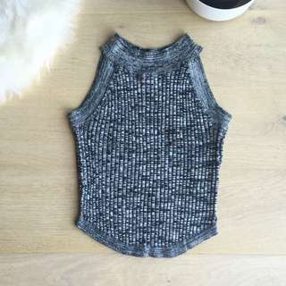 Cropped Grey Sweater Tank