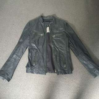 Mister Zimi Genuine Leather Biker Jacket