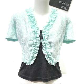 SALE! Droplets Mint Green Blazer