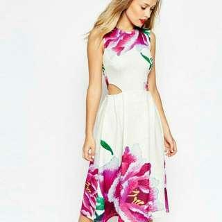 Floral Midi Dress BRAND NEW