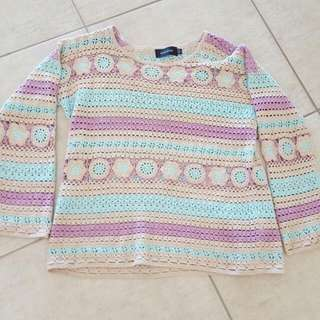 Mink Pink Crochet Jumper XS/S