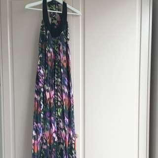 Saba Silk Butterfly Print Halter dress