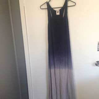 Subtitled Purple Ombré Maxi Dress Size 10