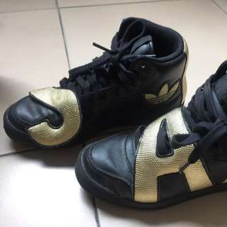 Adidas Originals Jeremy Scott Letters Gold Track Shoes