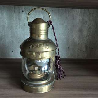 Brass sailor lamp