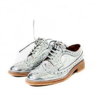 Jeffery Campbell Silver Oxford Shoes