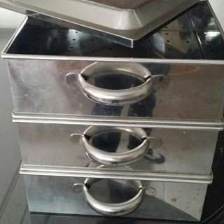 3 Tier Stainless Steel Steamer 90% New