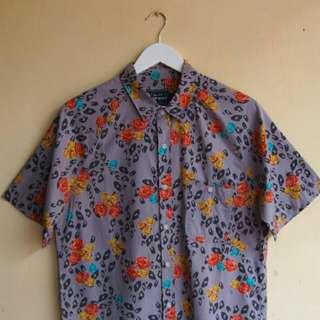 Topman Leopard & Rose Shirt