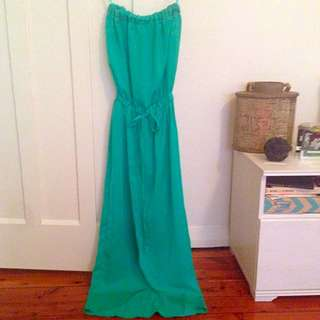 Hippy Turquoise Silky Dress