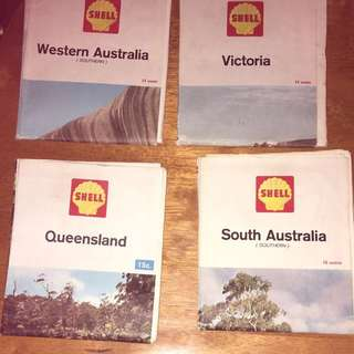 Collectable Old School Shell Maps