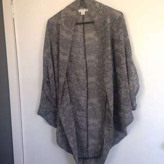 Grey Paisley Kimono By Cotton On