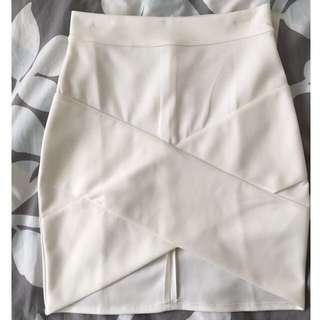*PENDING* White Wrap Skirt