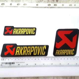 Akrapovic metallic exhaust sticker/decal