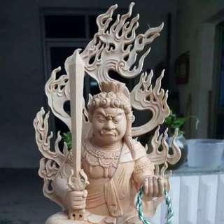 不動明王木雕藝品