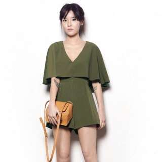 (BN) YHF - TASTEFULLY YOURS ROMPER IN OLIVE