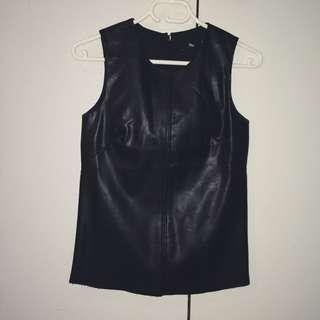 Sportsgirl PU Leather Top