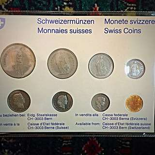 1978 Switzerland Swissmint Mint Issue Complete 8-Coins Proof Set, BU-UNC/Rare Scarce! Brilliantly Uncirculated, beautiful & attractive famous Swiss circulating coin design. TOP-Struck! (#679)