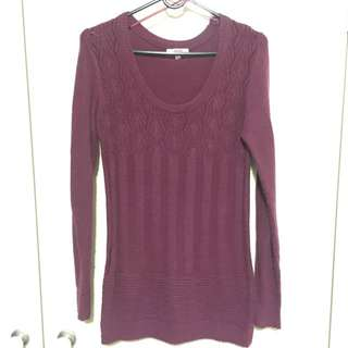 Maroon/purple Knitted Jumper (fitted)