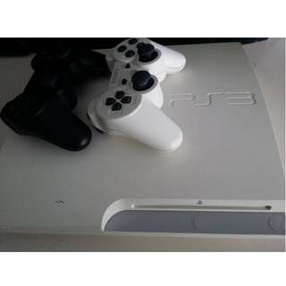 PS3 Slim console (CECH3006A Classic White)  + 1 additional controller + Games..