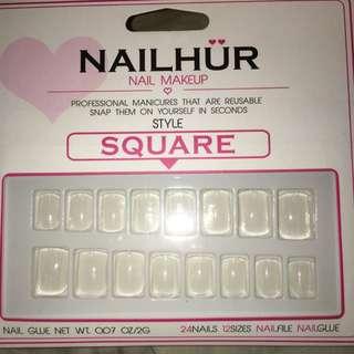 Nailhur Square Blank Nails