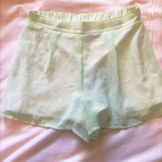 Mint FLOWY Shorts