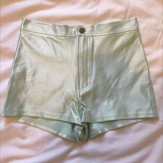 American Apparel Mint Shorts