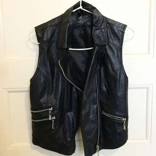 Leather Vest H&M