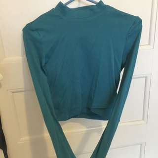 Kookai Size 2 Long Sleeve Crop