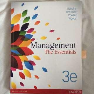 Management The Essentials 3e Textbook