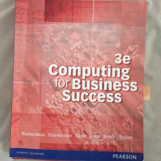 Computing for Business Success 3E