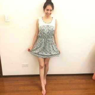 超級可愛小碎花顯瘦洋裝