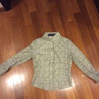 Club Marc Leaf Print Long-sleeved Shirt