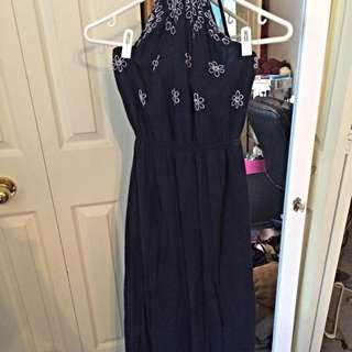 Small Blue Maxi Dress