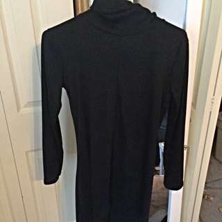 Size Small Black Turtleneck Dress
