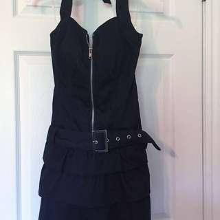 """""""Denim"""" Zip Up Dress"""