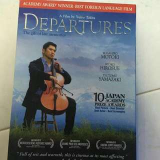 Departures DVD (Japanese Film)