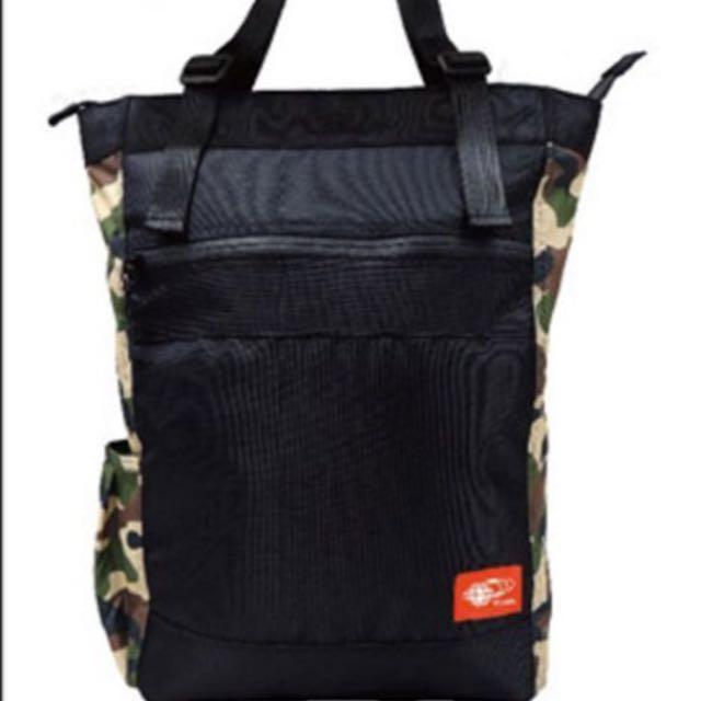 7-11全新品、限定版!兩用包BEAMS後背包迷彩款,可肩背包 、帆布電腦包、 大容量後背包!