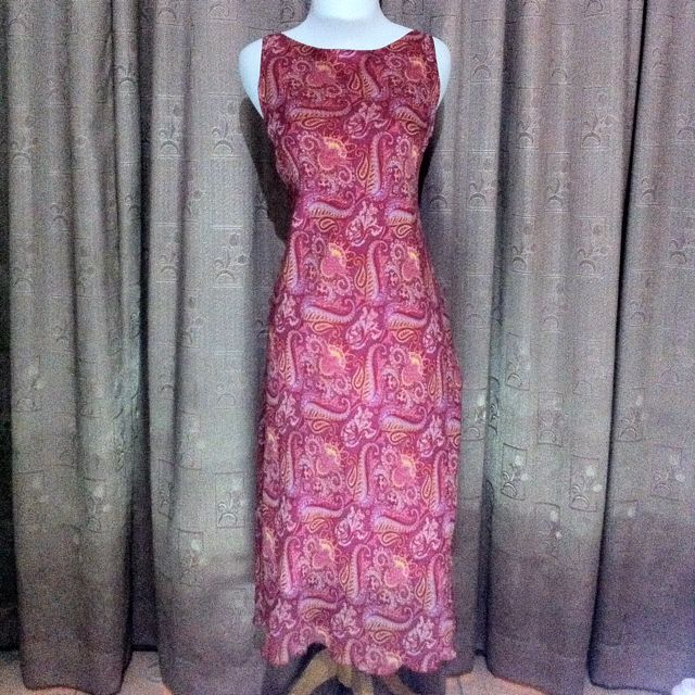 Accent Batik Long Dress