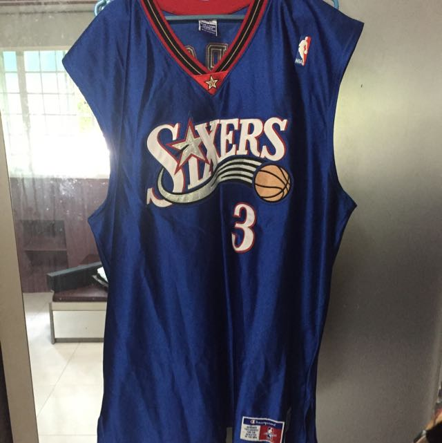 new arrivals de2f9 8d215 Allen Iverson Basketball Jersey Sixers, Sports on Carousell