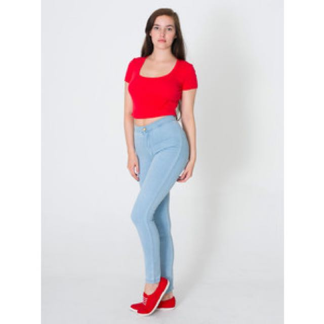 American Apparel High Waisted Easy Jeans