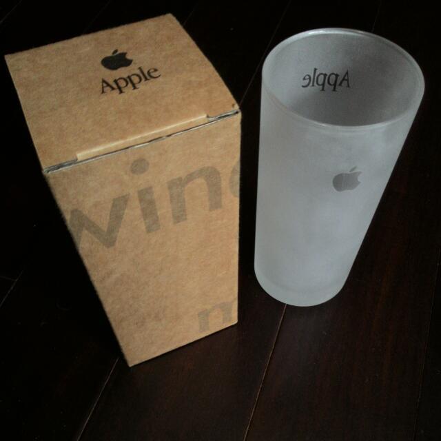 蘋果apple Mac 絕版霧面玻璃杯