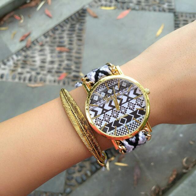 braided adjustable watch