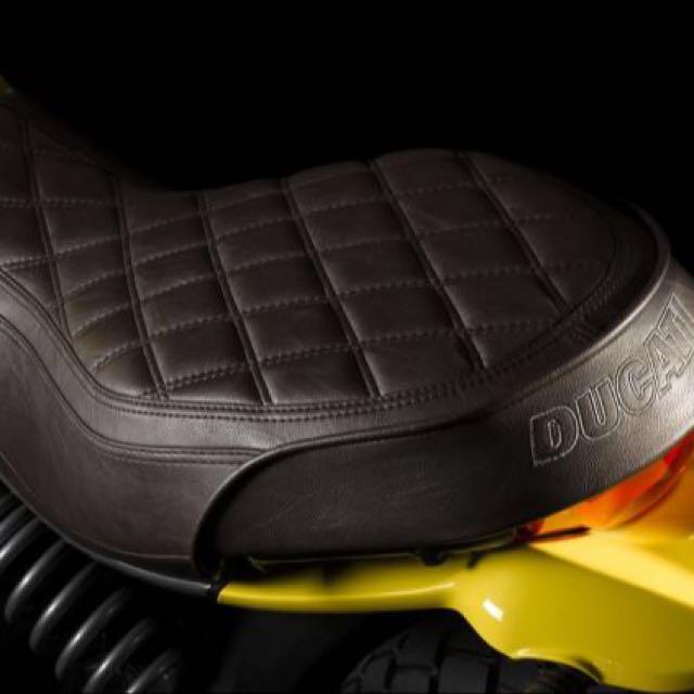Ducati Scrambler Classic Leather Seat